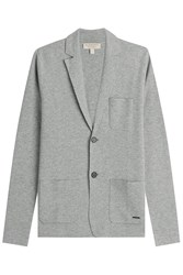Burberry London Wool Cardigan With Cashmere Grey