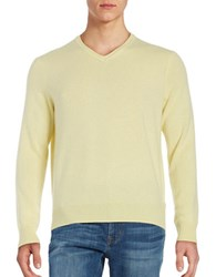 Black Brown Cashmere V Neck Sweater Light Yellow