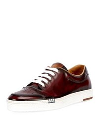 Berluti Calf Leather Tennis Shoe Red