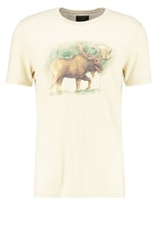 Abercrombie And Fitch Artist Print Tshirt Cream Off White