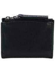 Maison Martin Margiela Zip Compartment Billfold Wallet Men Calf Leather One Size Black