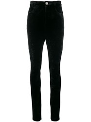 Attico High Waist Fitted Trousers Black