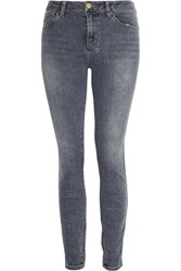 Ksubi Spray On Cropped Mid Rise Skinny Jeans