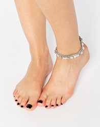 Pieces Coin Ankle Bracelet Silver