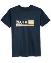 Quiksilver Men's Graphic Print T Shirt Navy