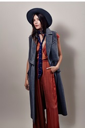 Free People Maxi Menswear Vest