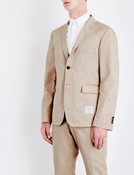 Thom Browne Regular Fit Cotton Twill Blazer Khaki