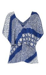Maiyet Silk Draped Blouse Print