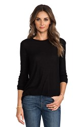 Alexander Wang Slub Classic Long Sleeve Tee Black
