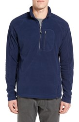 Gramicci Men's Utility Quarter Zip Fleece Sweater Indigo Ink