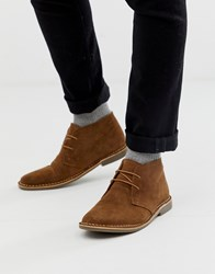 Red Tape Desert Boots In Tan Suede