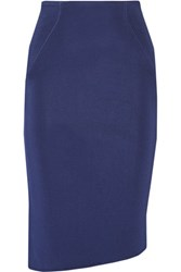 Issa Ainsley Textured Knit Skirt Royal Blue