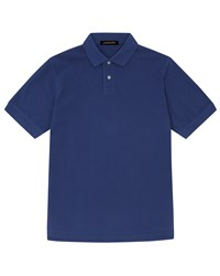 Jaeger Cotton Pique Polo Shirt Navy