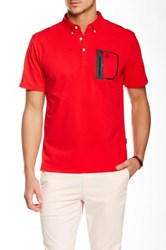 Ag Jeans Green Label The Cup Short Sleeve Polo Red