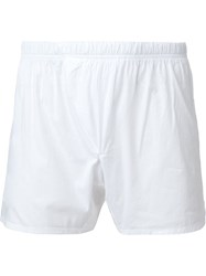 11 By Boris Bidjan Saberi 11 Logo Boxer Shorts White