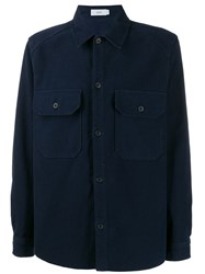 Closed Button Up Shirt Blue