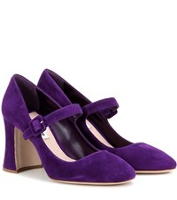 Miu Miu Suede Pumps Purple