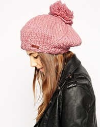 Barts Loopy Beret Hat Dustypink