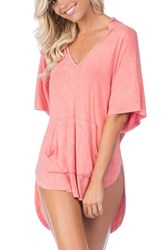 Green Dragon Women's Riviera Hooded Cover Up Poppy