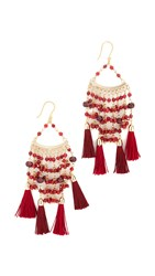 Rosantica Kilimangiaro Earrings Burgundy