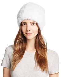 Maximilian Furs Knit Mink Fur Hat Bloomingdale's Exclusive White