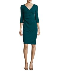 Betsey Johnson Three Quarter Sleeved Wrap Dress Teal