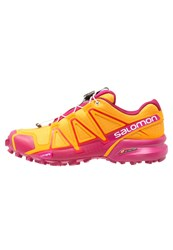 Salomon Speedcross 4 Trail Running Shoes Bright Marigold Sangria Rose Violet Dark Yellow