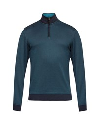 Ted Baker Mescat Half Zip Funnel Neck Jumper Navy