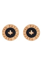 Women's Ted Baker London 'Tempany' Button Stud Earrings Black