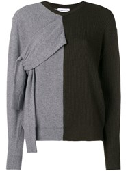 Carven Double Faced Knit Sweater Green