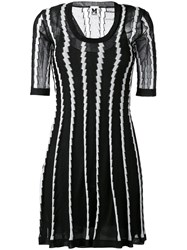 M Missoni Stripe Panel Flared Dress Black