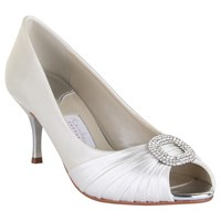Rainbow Couture Serafina Satin Court Shoes Ivory
