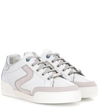 Stella Mccartney Faux Leather Sneakers Silver
