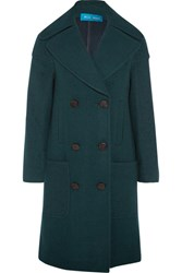 Mih Jeans M.I.H Richards Double Breasted Wool Blend Coat Emerald