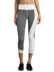 Vimmia Allegiance Capri Pants Heather Grey White