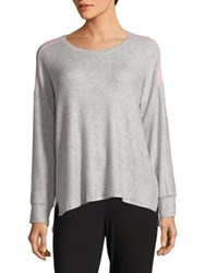 Roudelain Drop Shoulder Tee Grey Pink