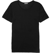 Zimmerli Royal Classic Crew Neck Cotton T Shirt Black