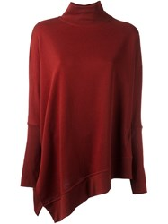 Ann Demeulemeester Oversized Turtleneck Jumper Red