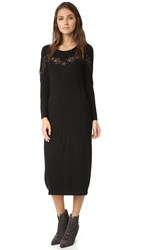 Rebecca Taylor Dress With Lace Detail Black