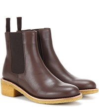 A.P.C. Leather Chelsea Boots Brown