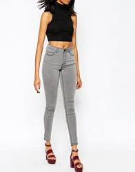 Just Female Stroke High Rise Skinny Jeans Greypower