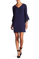 Laundry By Shelli Segal Bell Sleeve Shift Dress Petite Blue