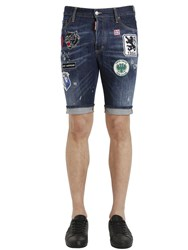Dsquared Patched Denim Shorts
