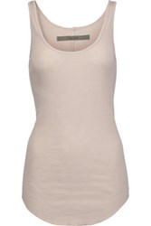 Enza Costa Ribbed Cotton Jersey Tank Taupe