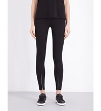 Helmut Lang Skinny Stretch Crepe Trousers Black