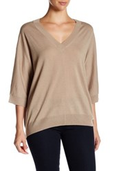 Brochu Walker Romy Wool Blend Pullover Brown