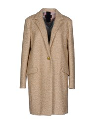 Femme By Michele Rossi Coats Sand