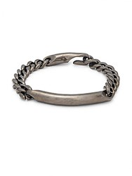 Giles And Brothers Id Chain Bracelet Gunmetal