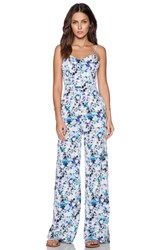 Sam Edelman Photo Floral Jumpsuit Turquoise