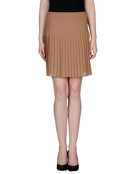 List Knee Length Skirts Khaki